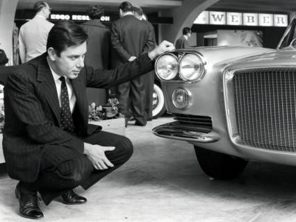 Young Pininfarina in Black Oxford Shoes