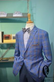 John Cooper Sportscoat in Plaind & Blue