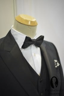 Partially Lined Silk Lapel on Dinner Jacket