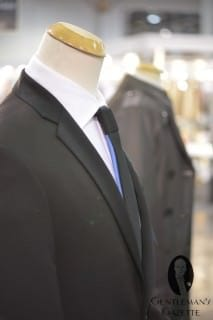 Shirt with Pleated Front & Tie with Contrasting Back