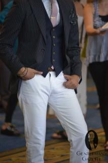 Short Vest with Leather Belt