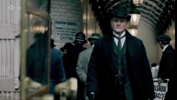 Lord Grantham with Homburg Hat, Three Piece Suit & Curly Lamb Astrakhan Collar