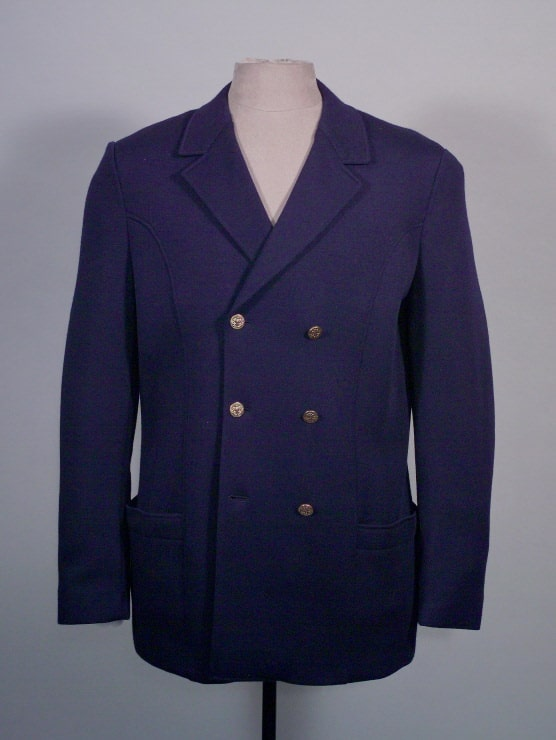 6x3 Double Breasted Navy Blazer, Made in France by Cezar Ltd. for A. Sulka & Company, 1971