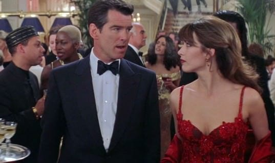 Brosnan as 007 in Dinner Jacket with Studs & Butterfly Bow Tie