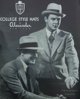 College Style Hats by Alexander