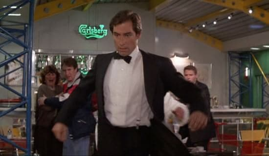 Dalton as 007 with Clip on Suspenders & No Cummerbund