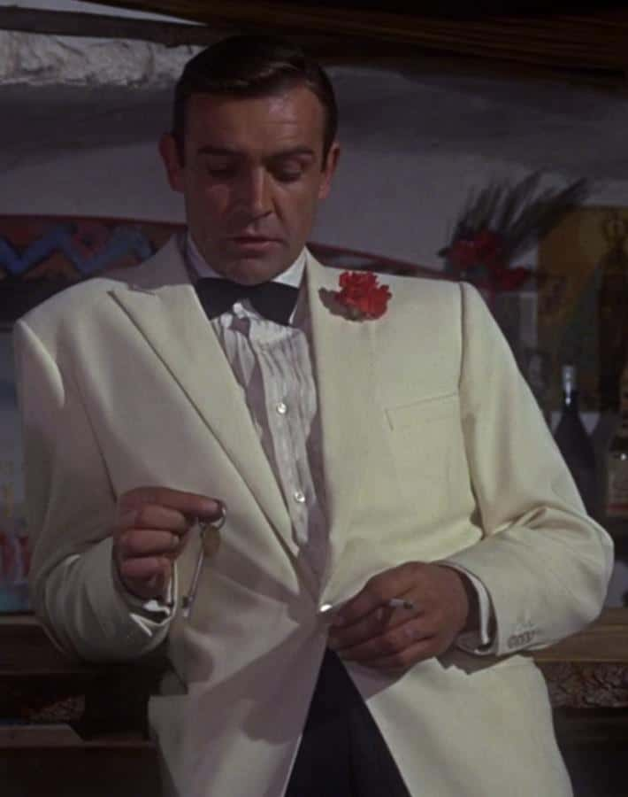 Dinner Jacket with Boutonniere - Sean Connery in Goldfinger