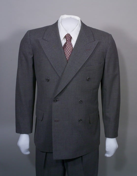 Double Breasted Suit in Grey June 6, 1945