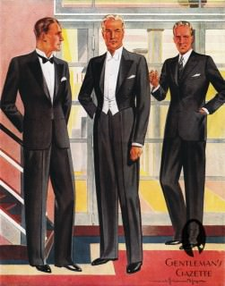 Evening Wear - Tuxedo, White Tie & Lounge Suit