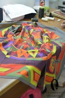 Flamboyant Hermès Silk Scarf Lining