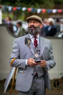 Tweed Cap, 3 Piece Glencheck Suit & Cane