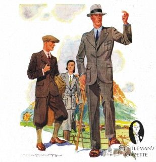 Knickerbockers & Country Suit with Peaked Lapels