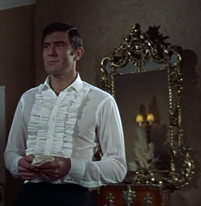 Lazenby with Ruffled Tuxedo Shirt Front