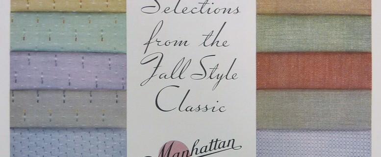 Manhatten Shirt Fabrics in Fall Colors