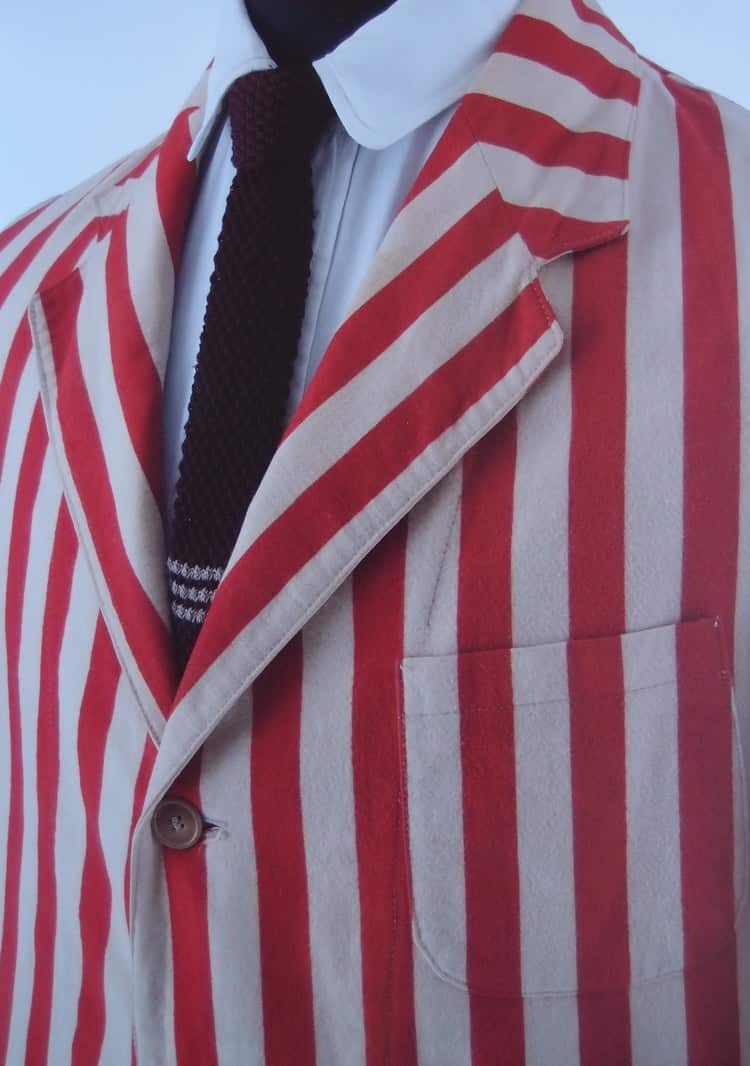 White, piped, striped or downright dazzling, the rowing blazer speaks of loyalty to one's crew or club, to the history and traditions of the sport and of warm days glimpsed through a Pimm's-induced haze while one cheers the efforts of the competing crews, one's own days on the water but a memory.