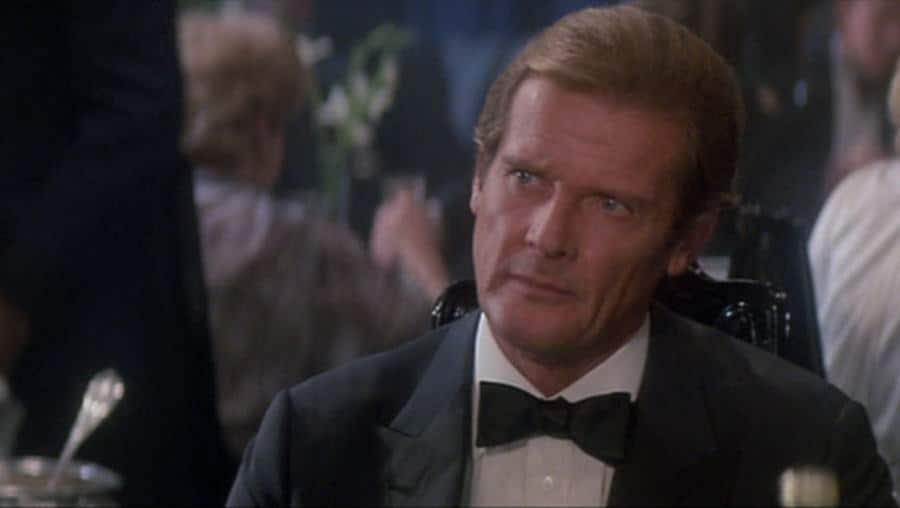 Roger Moore in Black Tie - Batwing