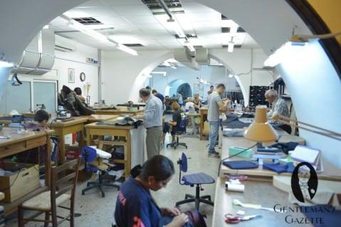 Rubinacci Tailor Shop Upstairs