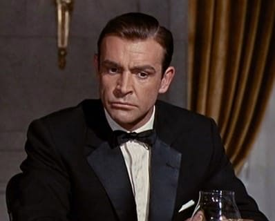 Sean Connery in Goldfinger with Notched Lapel Tuxedo