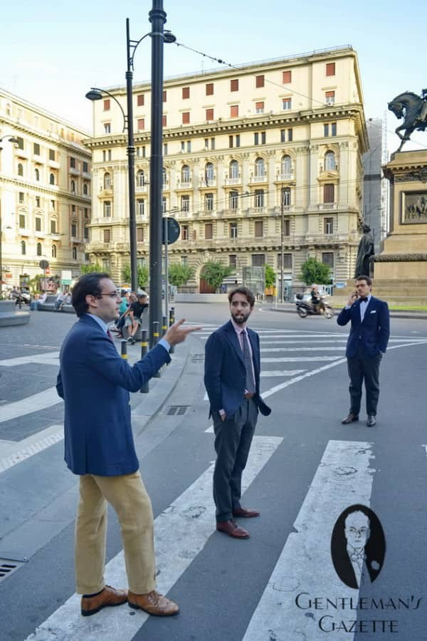 Three Neapolitans - Three Single Breasted Navy Jackets