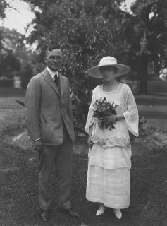 Truman on His Wedding Day June 28, 1919 in Houndstooth Suit