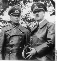 Brauchitsch & Hitler in Black Leather Trench Coats at Warsaw Parade 1939