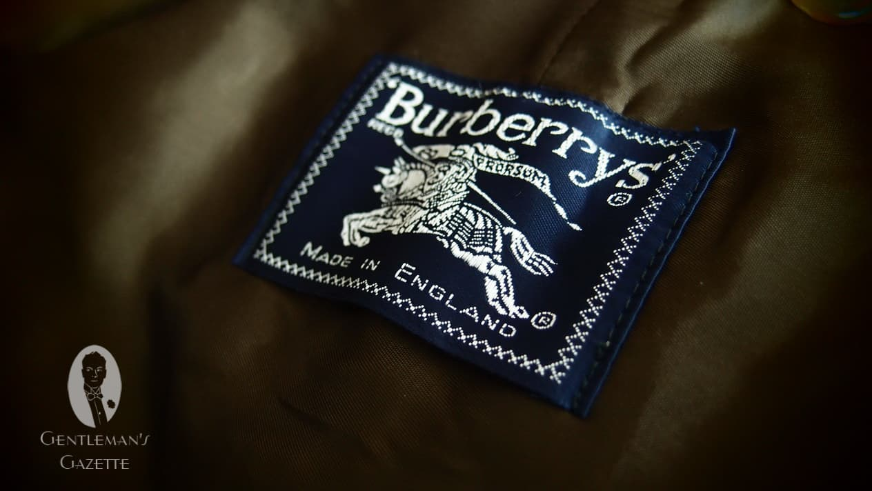 burberry london outlet online 4rd0  Burberrys' pre-1999 Made in England Label