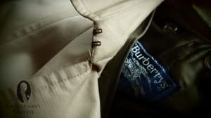Collar Hook on a Burberry's Trench Coat