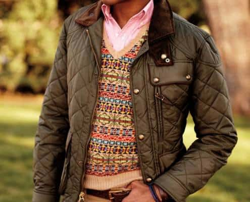 Quilted Jacket & Fair ISland Sweater