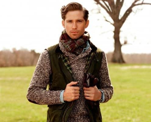 Ralph Lauren Scarf & Wax Vest