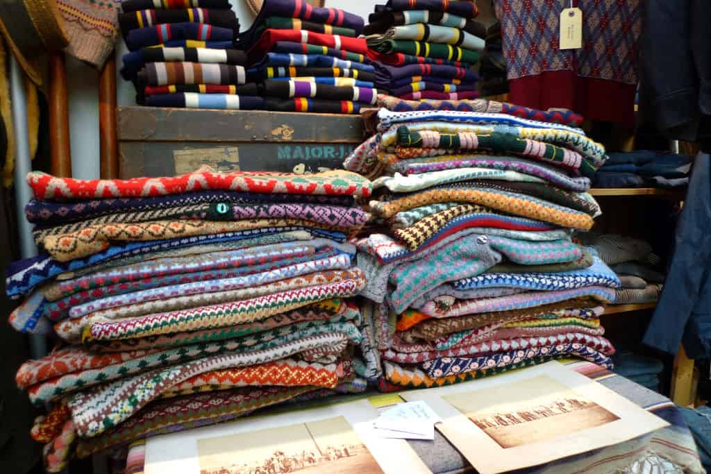 Sweaters at the Vintage Showroom - by Tweedland Gentleman's Club