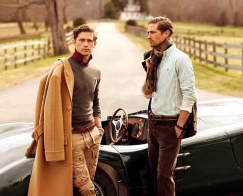 The Classic Polo Coat in the Countryside