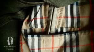 Through Pockets with Classic Burberry House Tartan