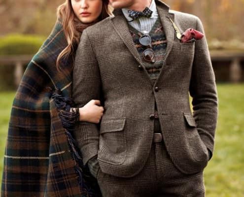 Tight Suit, Short Jacket, Bow Tie & Fair Isle - Polo Ralph Lauren