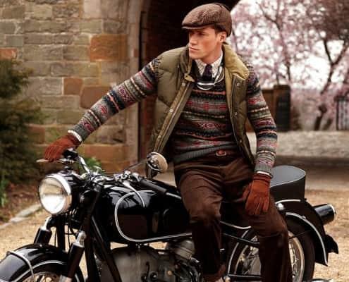 Vintage Motocycle & Tweed Cap