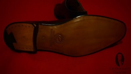 Goodyear Welted Sole with Channel & Brass Nail Heel