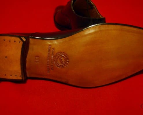 Goodyear Welted Sole with Channel Brass Nail Heel