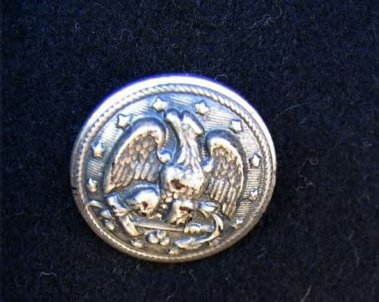 Pewter Button US Navy 1970 - 1984