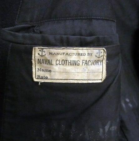 Vintage WWII Peacoat Tag