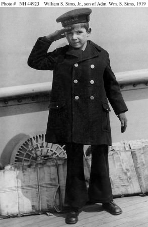 Young Sailor in Reefer Jacket with Horizontal Pockets