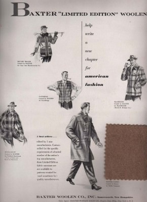 American duffle fabric  by Baxter 1951