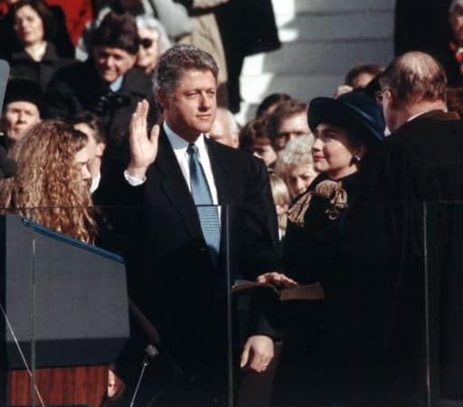 Clinton 1993 in a dark suit