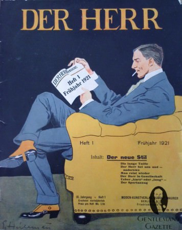Der Herr Magazine Cover from 1921