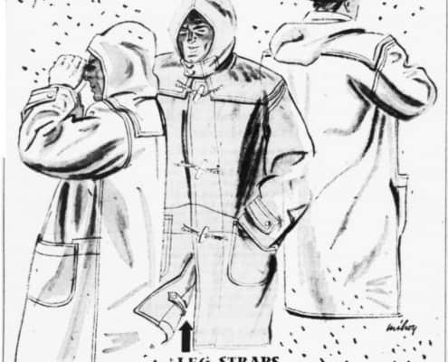 Duffle Coat in Milwaukee Journal December 1941