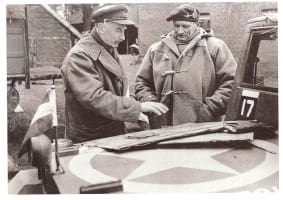 Generals Bubbles Barker & Monty in huge Duffle Coat