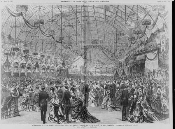 Inaugurational Ball on March 4, 1873 for Ulysses S. Grant