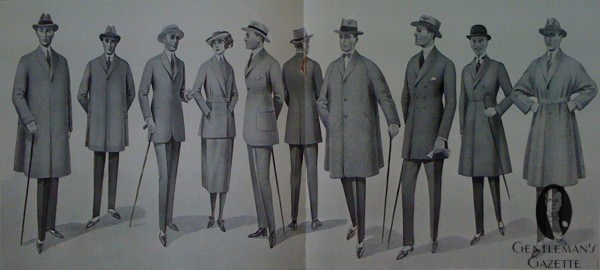Men's Clothing in 1921