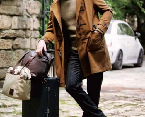 Modern day duffle coat in camel
