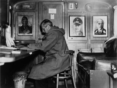 Monty Bernard L. Montgomery in Duffle Coat during WWII