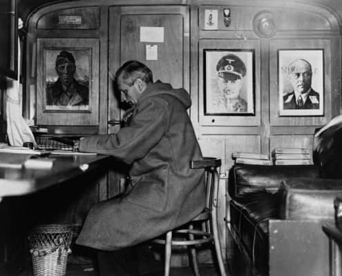 Monty Bernard L. Montgomery in Duffle Coat during WWII
