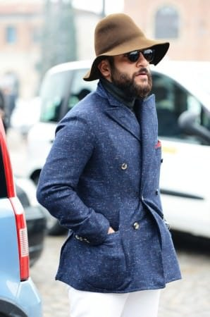 Mottled DB Sportscoat in Blue